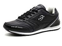 Кроссовки мужские Bona, кожаные, черные, фото 1