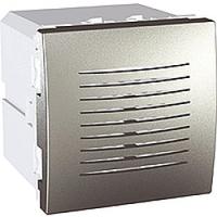 Звонок электронный 5 мелодий 2-модульный Алюминий Schneider Electric Unica (MGU3.786.30)