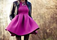 Изысканное женское платье из неопрена s (цвет мята)