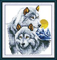 Набор для вышивания Идейка Волки и луна (ide_D086) 41 х 43 см