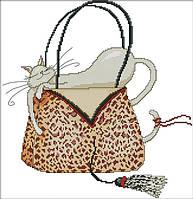 Набор для вышивания Идейка Кошка в сумке 1 (ide_K485) 39×40 см