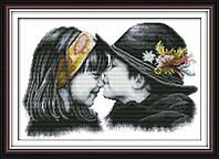 Картина вышивка крестом Идейка Ранняя любовь (ide_R289) 48 х 36 см