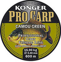 Леска карповая  Konger Pro Carp Camou Green 600 m