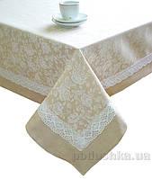 Скатерть Престиж Прованс White Rose из комбинированной ткани 140х180 см