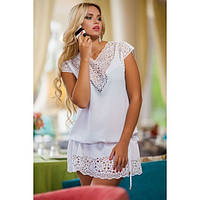 Платье Лето стильное летнее креп-шифоновое