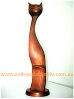 Статуэтка Кот, сувенир из дерева
