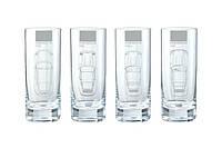 Набор из 4-х стеклянных стаканов Porsche Long Drink Glass Set