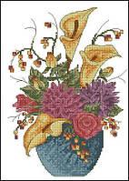 Вышивка крестиком Идейка Цветы в вазе (ide_H231) 33×43 см