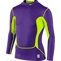 Детская термо футболка NIKE Pro Combat Hyperwarm Max Mock Long Sleeve