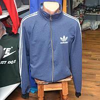 Спортивный трикотажный костюм Adidas, производства Украина (сине-серый)