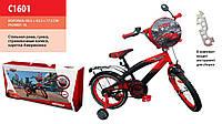 """Велосипед Disney Cars 16"""" со звонком и зеркалом (C1601)"""