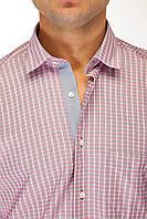 Бордовая клетчатая рубашка