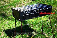Набор для пикника мангал на 10 шампуров в чехле+10шампуров чехол к шампурам в подарок