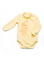 Боди для новорожденного утеплённый с длинным рукавом