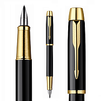 Ручка Parker IM перьевая чёрная с позолотой