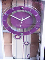 Настенные часы с маятником, 24*57,5*5 см. три цвета