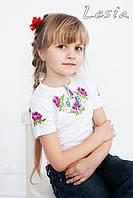 Дитяча вишиванка Маки фіолет