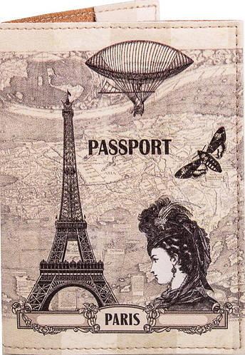 Самая стильная и элегантная женская обложка для паспорта из кожзама PASSPORTY (ПАСПОРТУ) KRIV018