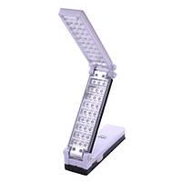 Раскладной led-светильник yajia 6830 tp, питается внутренним аккумулятором, заряжается от сети, 30+27 smd led
