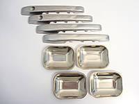 Комплект накладок из нержавеющей стали на автомобильные дверные ручки ВАЗ 2109, 21099 INTERPLAST