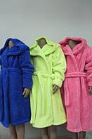 Махровый халат подростковый. Разные цвета