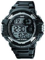 Часы  водостойкие Q@Q  Tehno 10Bar спортивные, можно плавать, M143J002Y