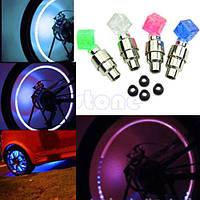 Cветодиодная неоновая подсветка кубик для колес автомобиля