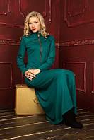 Женское платье макси с длинными рукавами 881 Осень 2016
