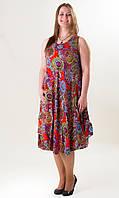 Летнее платье-сарафан, штапель, опт 190 грн