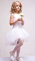 Праздничное белое платье для девочки