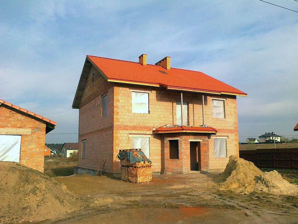 Строительство дома в Белогородке.