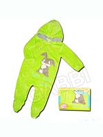 """Детский велюровый комбинезон для мальчика """"Заюшка"""" в подарочной упаковке"""