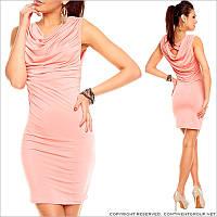 Коралловое платье-миди
