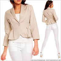 Женский пиджак на одной пуговице
