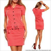 Женское платье коралловое