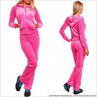 Розовый велюровый костюм