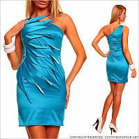 Ярко - голубое вечернее платье