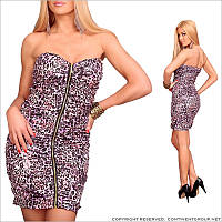 Леопардовое платье-бандо