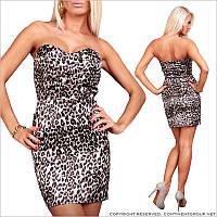 Обтягивающее леопардовое платье