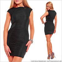 Деловое платье черного цвета