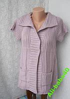 Кофта женская безрукавка теплая бренд Gina р.48