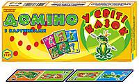 """Настольная игра Технок домино с картинками """"В мире сказок"""""""