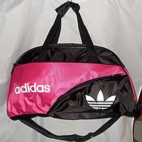 Женская спортивная сумка Adidas 013075 черная с розовым
