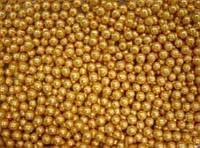 Посыпка шарики золотые 4мм 250г.(код 01075)