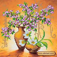 """Схема для вышивки бисером  """"Весенние цветы""""  AC-003"""