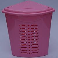 Корзина для белья угловая розовая