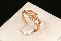 637 - Бижутерия кольцо - покрытие золото с цирконием