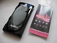 Чехол-бампер Sony Xperia U ST25i (Черный)