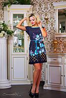 Женское короткое платье без рукавов на лето