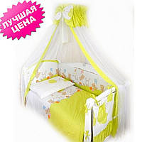 Постельный комплект для новорожденного Twins Comfort Горошки (8 предметов)